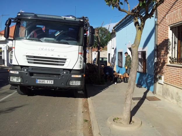 Transportes camión grúa